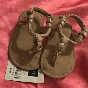 Baby Gap Tan w/A Hint of Gold Sandals